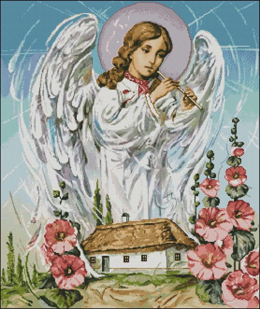Схема ангелов для вышивания крестиком