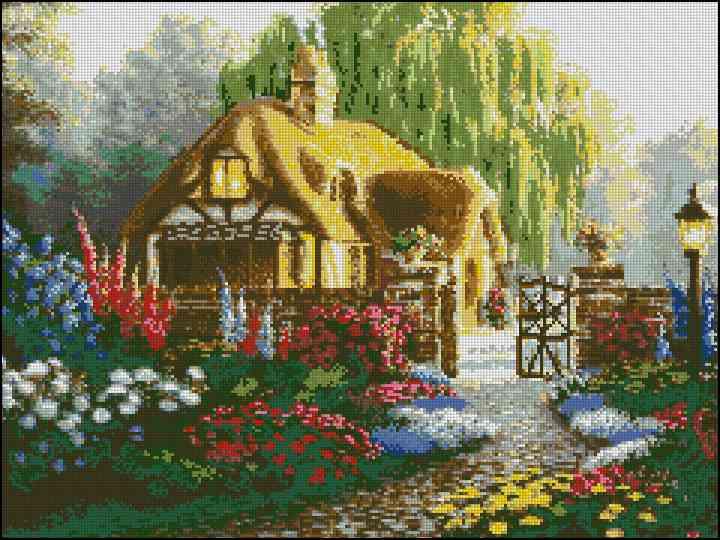 Домик в цвету - А