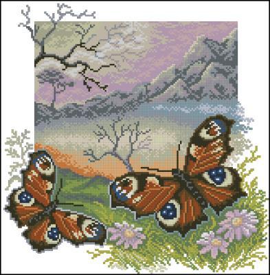 Вышивка схема бабочки скачать бесплатно фото 113