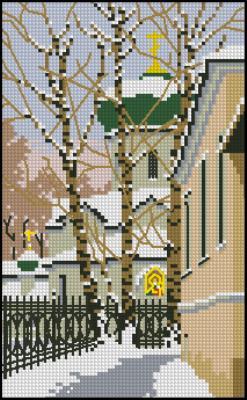 Схема вышивки крестиком бесплатно храмы