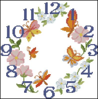 Часы схема вышивки крестом скачать фото 913