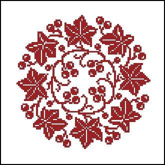 Вышивка крестиком по кругу