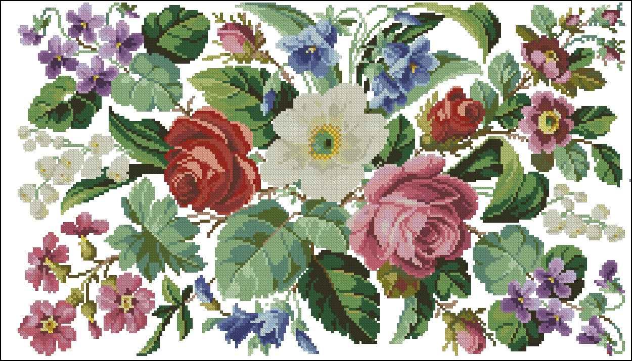 Схемы вышивки крестом бесплатно и без регистрации цветы