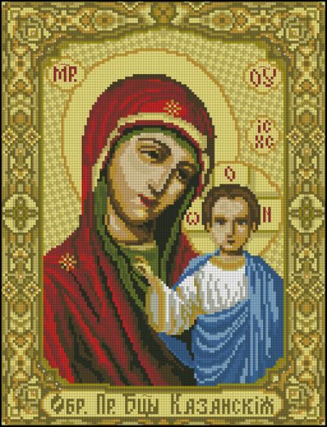 Казанская Пресвятая Богородица схема вышивки крестом