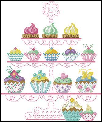 Пироженки вышивка схема