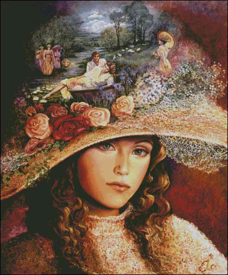 Картинки: дама в шляпе - арт-хобби