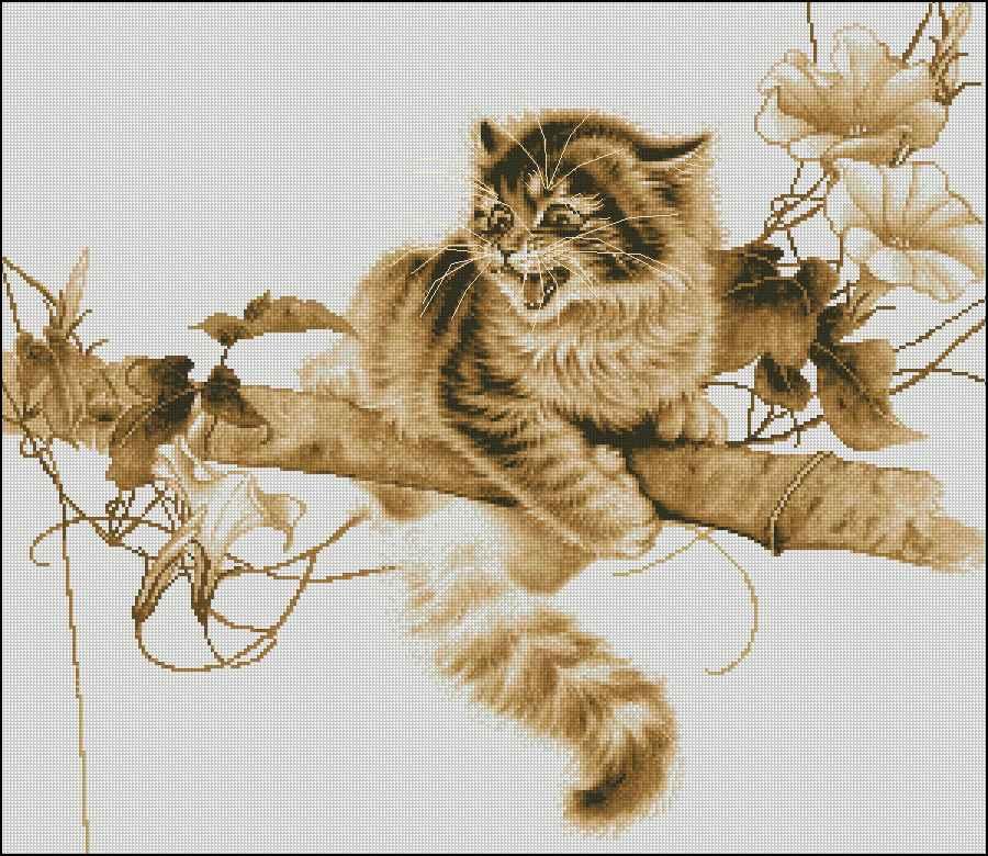 Вышивка котов скачать бесплатно