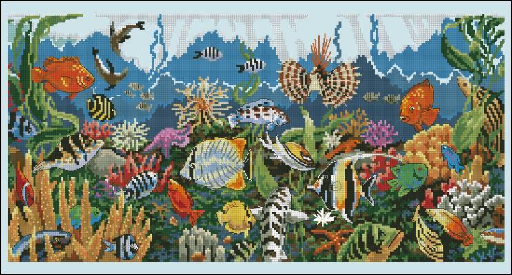 Схемы вышивок крестом подводный мир