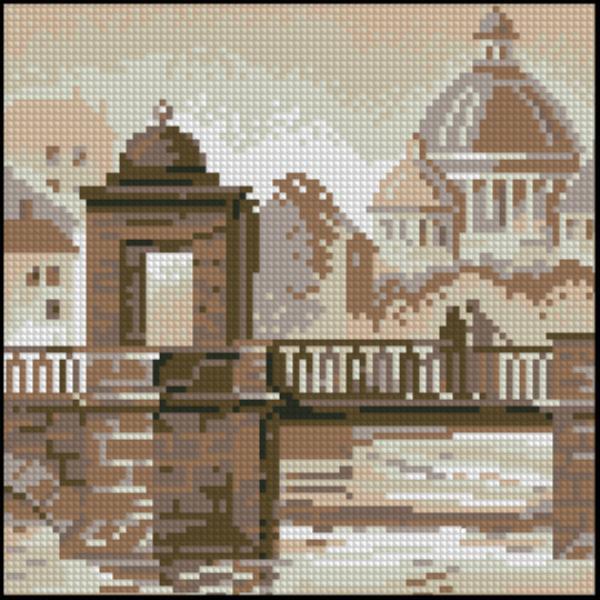 Схема вышивка крестом старый город схема