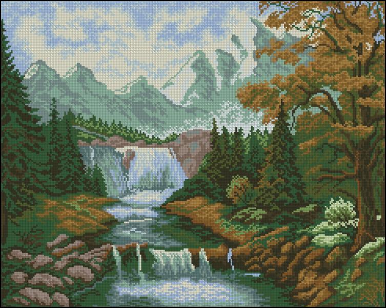 Вышивка водопад от юноны 11