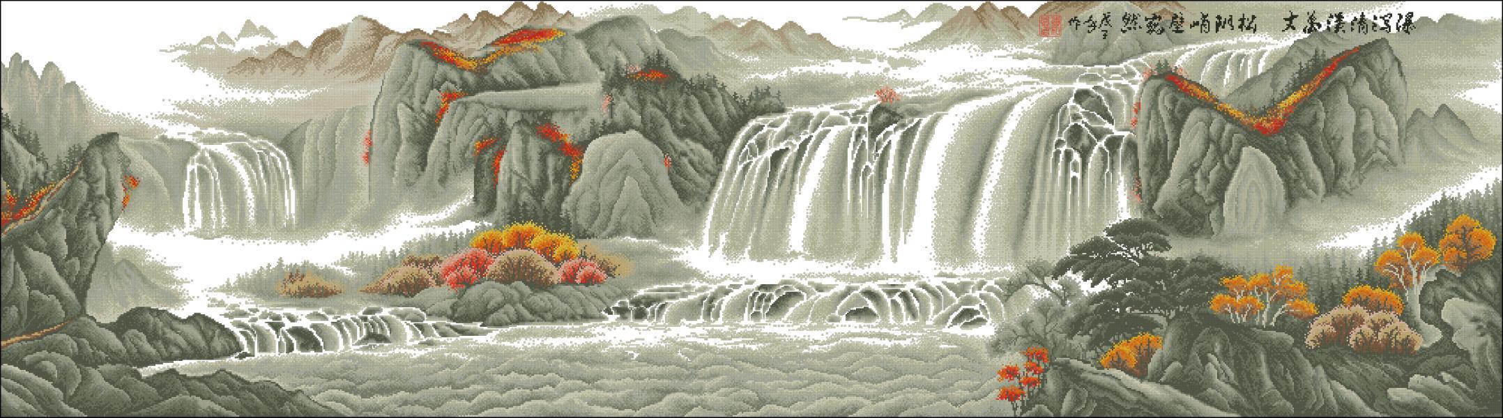 Водопады - Мир Вышивки