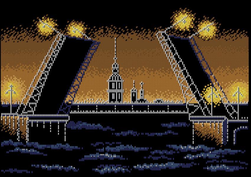 Схема для вышивки крестом ночного города