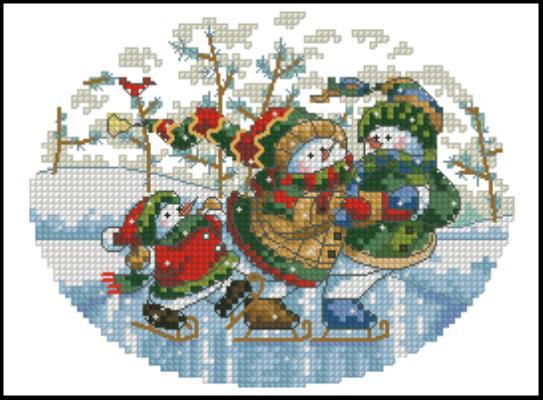 Схема вышивки дименшенс новый год