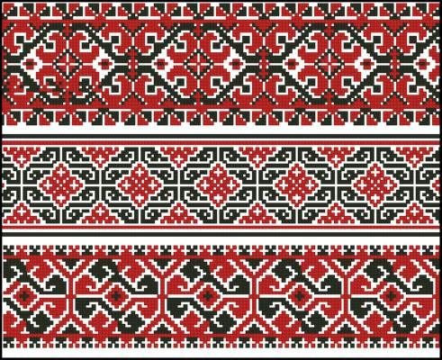 Схемы вышивки геометрия