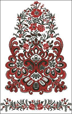 Русский рушник схема вышивки