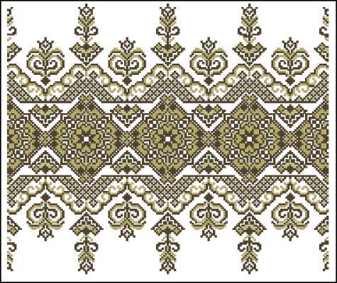 Вышивка крестом кружева схемы бесплатно