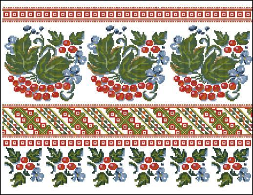 Схемы для вышивки крестом калина