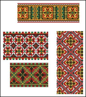 Салфетка с украинским орнаментом схема