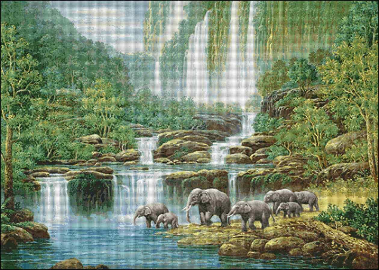 Схемы вышивки водопады скачать бесплатно