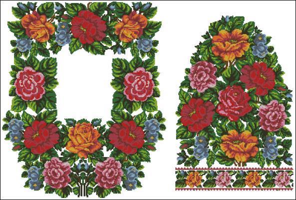 Вышиванка схемы цветов