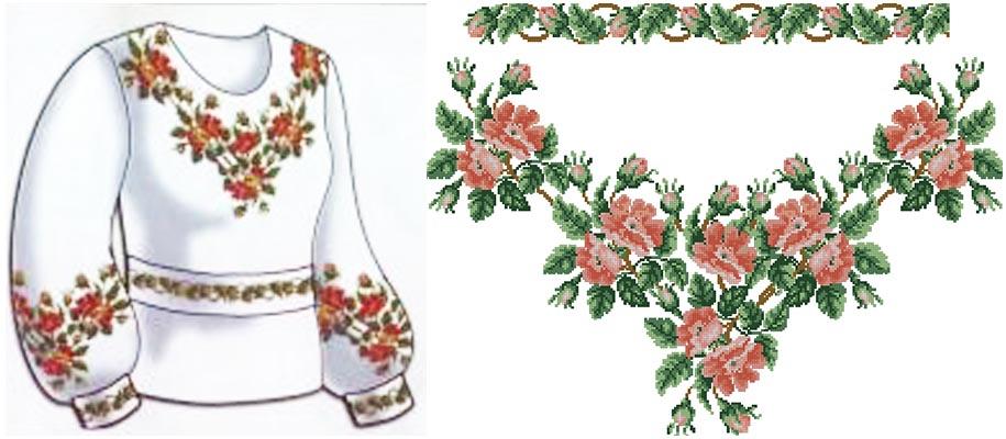 Вышивка схема сорочка