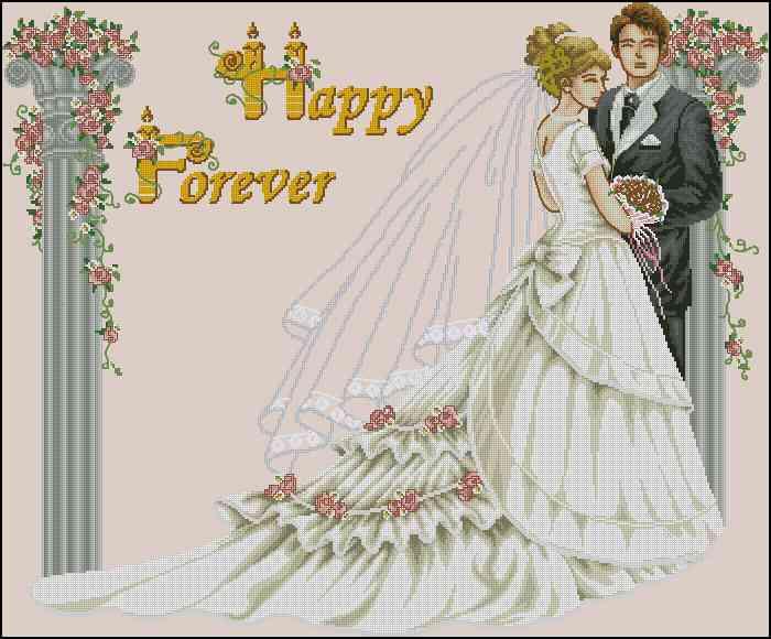 свадьба бесплатные схемы крестиком
